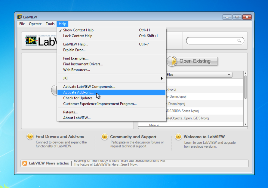 Activation of LabVIEW Python Integration Toolkit – Enthought